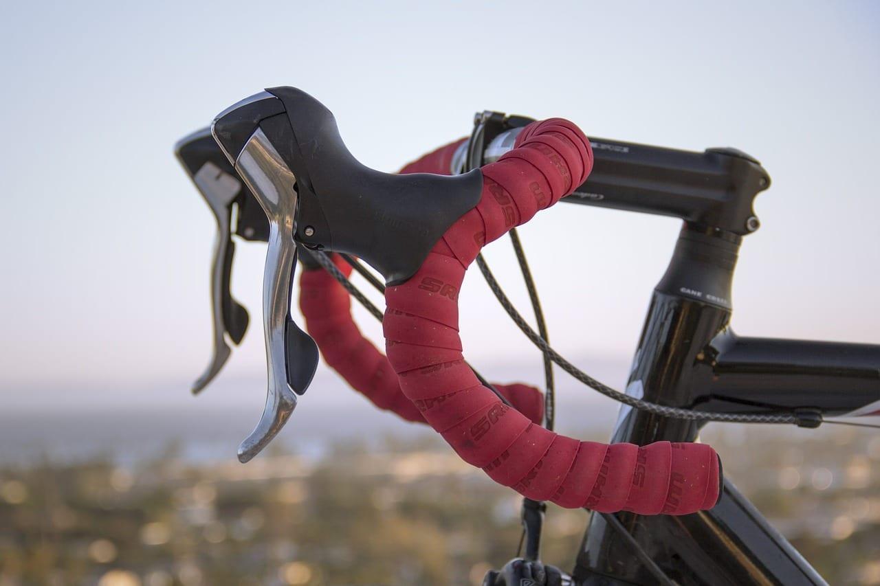 racing bike, bike, handlebar